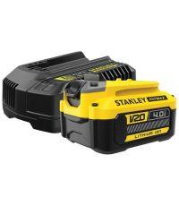 Starter kit chargeur 2Ah + 1 batterie 18V 4Ah - STANLEY FATMAX