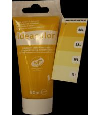 Colorant universel coloris jaune brillant 50 ml - IDEACOLOR
