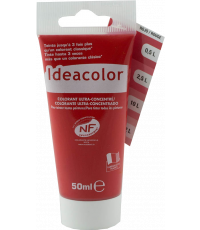 Colorant universel coloris rouge 50 ml - IDEACOLOR