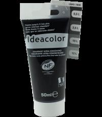 Colorant universel pour peinture coloris noir 50 ml - IDEACOLOR