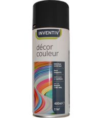 Peinture aérosol noir brillant 400 ml - INVENTIV