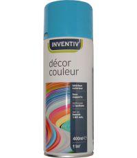 Peinture aérosol bleu azur brillant 400 ml - INVENTIV