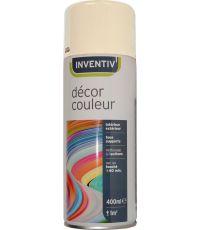 Peinture aérosol ivoire satiné 400 ml - INVENTIV