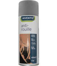 Peinture aérosol antirouille gris 400 ml - INVENTIV
