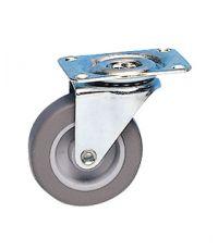 Roulette pivotante caoutchouc gris non tâchant Ø42mm - Charge supportée 15 kg - CIME