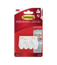 Crochet mini adhésif blanc - 3M COMMAND