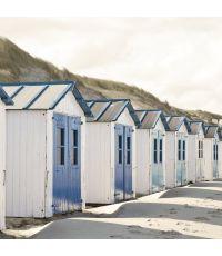 Toile déco beach cabanes 30x30 cm - ARTIS