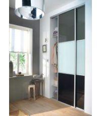 Rails pour portes de placard à composer 180cm aluminium
