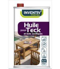 Huile extérieure pour teck et bois exotiques 1 L + 20 % gratuit incolore - INVENTIV