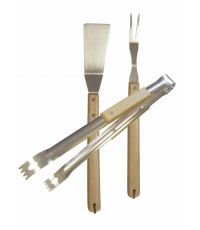 Ustensiles Barbecue plancha Essentiel Pince + Spatule + Fourchette - COOK'IN GARDEN