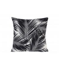 Coussin feuilles palmier noir et blanc