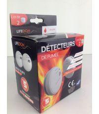 Lot de 2 détecteurs de fumée NF blanc