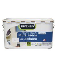 Peinture façade Mur sains ou abîmés Pliolite Blanc 2,5 L