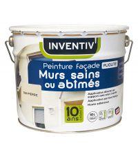 Peinture façade murs sains ou abîmés Pliolite - 10L - ton pierre - INVENTIV