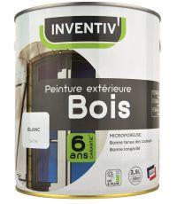 Peinture Bois 6 Ans Blanc Satin 2.5L - INVENTIV