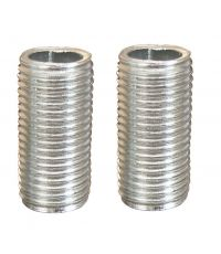 2 tubulures en acier longueur 2 cm - TIBELEC
