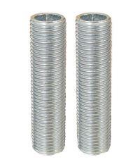 2 tubulures en acier L.4 cm - TIBELEC
