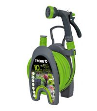 Mini dévidoir équipé vert 10m - TECHNO