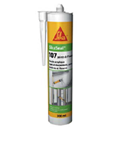Mastic plastique 107 joints et fissures- Blanc - 300 ml - SIKA SEAL
