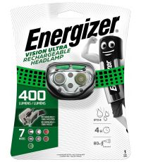 Lampe frontale  rechargeable vision ultra energizer 400 lumens - ENERGY SERVICE
