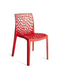 Chaise rouge design Gruvyer
