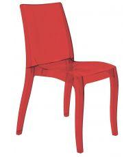 Chaise Cristal transparente rouge