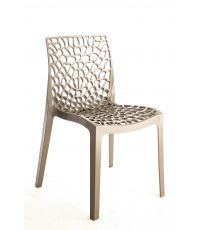Chaise design Gruvyer taupe