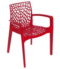 Fauteuil design Gruvyer rouge