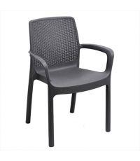 Chaise de jardin Régina Anthracite - IPAE PROGARDEN