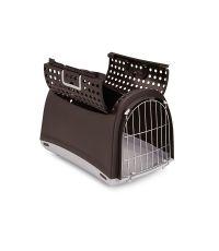 Cage pour transport des animaux Linus Cabrio marron 50 x 32 x 34.5cm - IMAC