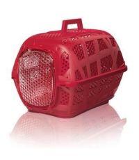 Cage pour transport des animaux rouge 48.5 x 34 x 32cm - IMAC
