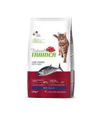 Nourriture au thon pour chat adulte 1,5kg - NATURAL TRANER