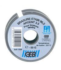 BRASURE BOBINE ETAIN ARGENT  50 G