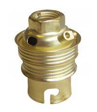 Douille B22 acier laitonné - TIBELEC