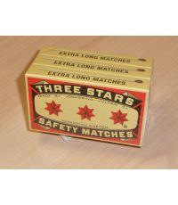 Boîte allumettes x3 extra large - TROIS ETOILES