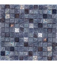 Mosaïque granit et verre - 30 x 30 cm