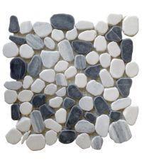 Mosaïque riviera gris - 30 x 30 cm