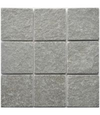 Mosaïque madras gris - 30 x 30 cm