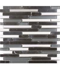 Mosaïque marbre et verre - 30 x 30 cm