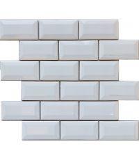 Mosaïque minimetro blanc - 30 x 30 cm
