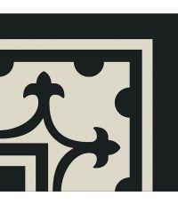 Carrelage de coin grès émaillé noir - 20 x 20 cm