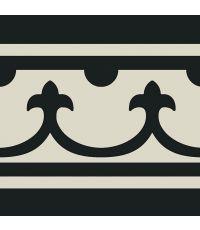 Carrelage cenefa noir grès émaillé - 20 x 20 cm