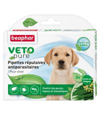 Pipette pour chiot x3 insectifuge Vetopure - BEAPHAR