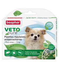 Pipette pour petit chien x6 insectifuge S Vetopure - BEAPHAR