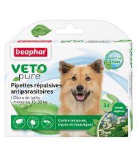Pipette pour chien moyen x3 insectifuge M Vetopure - BEAPHAR