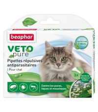 Pipette pour chaton x3 insectifuge Vetopure - BEAPHAR