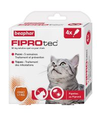 Pipette pour chat x4 Fiprotec - BEAPHAR