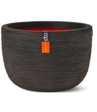 Pot à fleurs oeuf strié brun