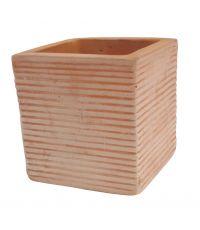 Pot carré 26 x 26 cm Tiber Art Terra