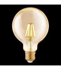 Ampoule Vintage Ambre E27-LED-G95 4W 330 Lumens 2200K - EGLO
